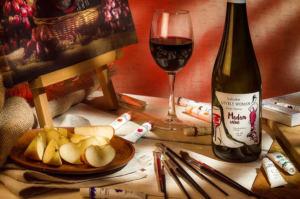 На фото предметная съемка вина