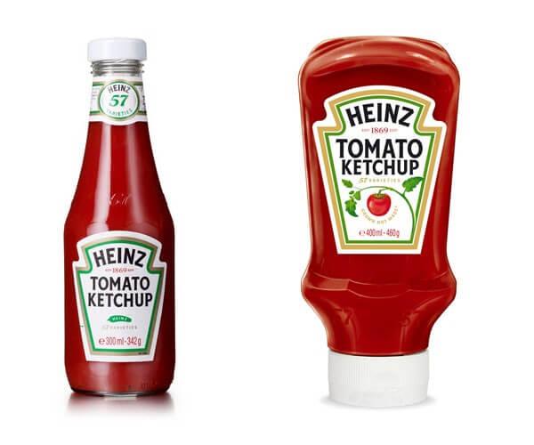 Упаковка кетчупа HEINZ
