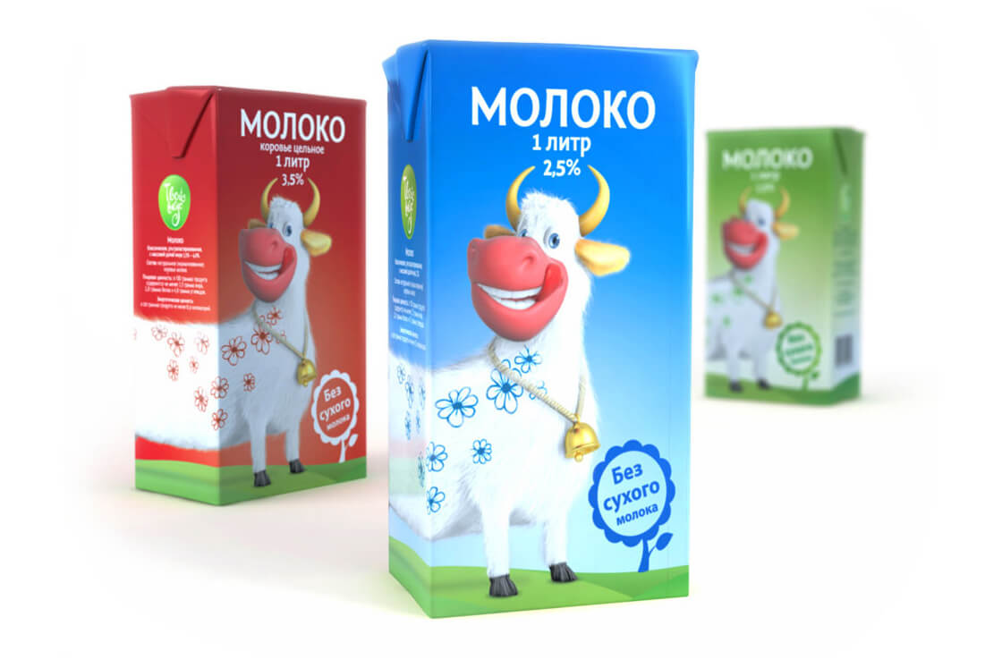 Дизайн упаковки для молочных продуктов