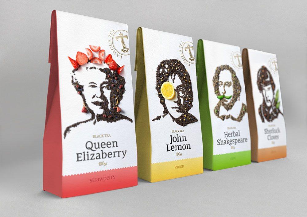 разработка дизайна упаковки чая