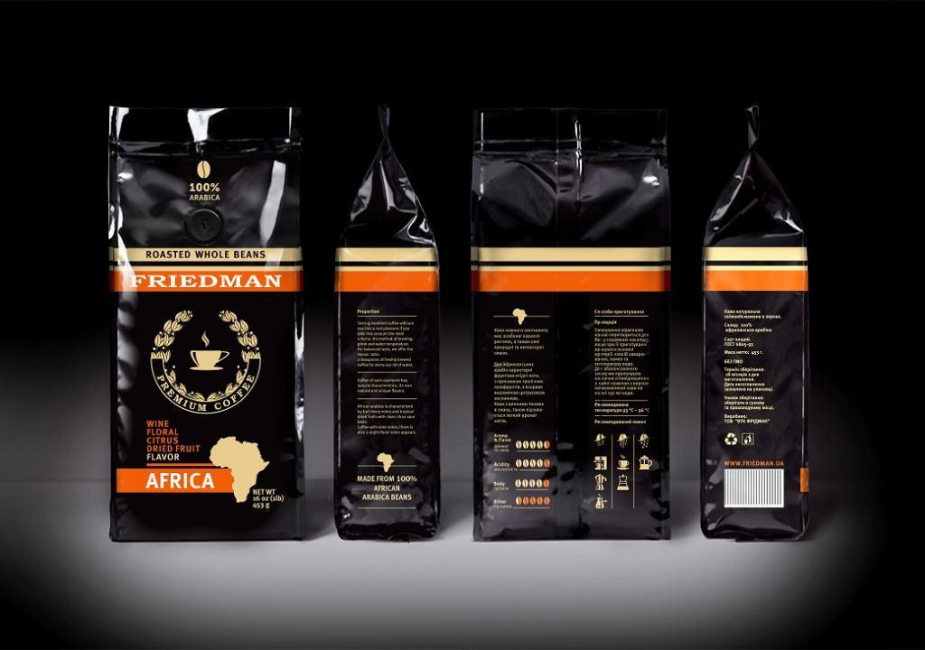 разработка упаковки кофе
