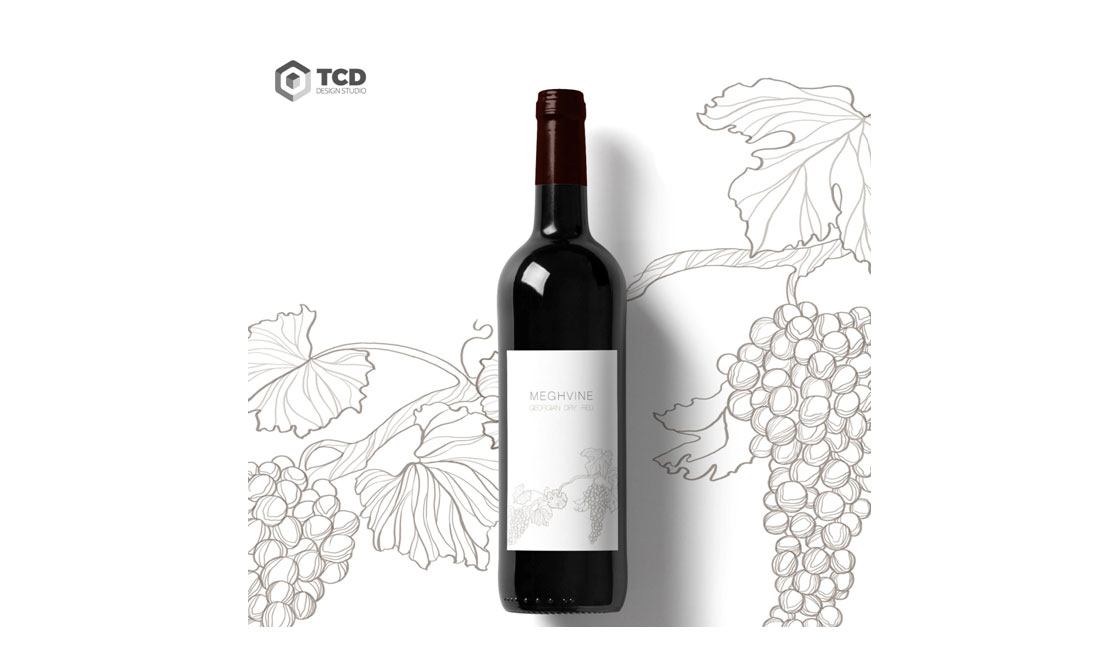 разработка дизайна этикетки вина Meghvine