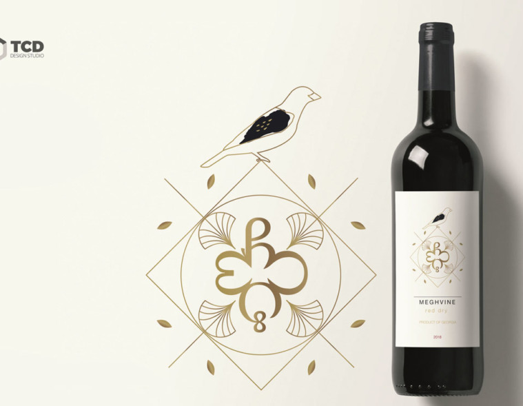 дизайн винной этикетки Meghvine