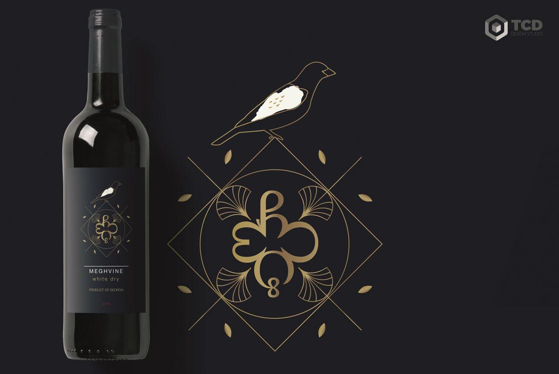 дизайн етикетки для вина Meghvine