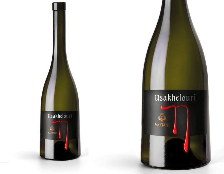 дизайн этикетки вина Vaziani Usakhelouri