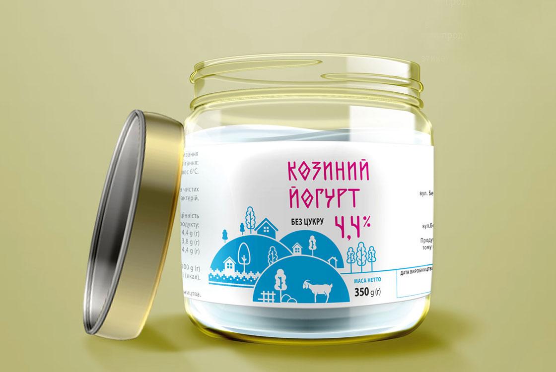 розробка дизайну етикетки для йогурту