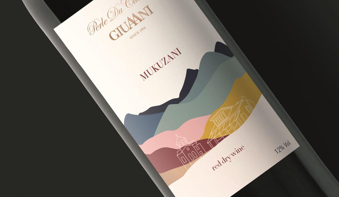 дизайн этикеток вина мукузани