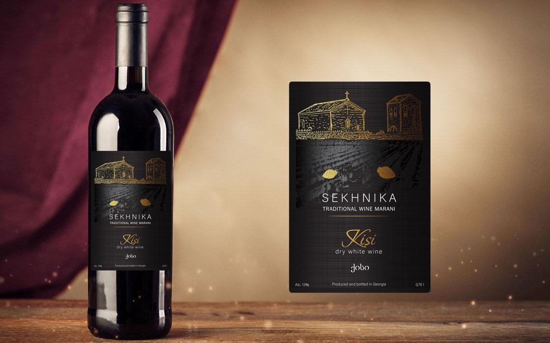 дизайн етикетки на пляшку вина