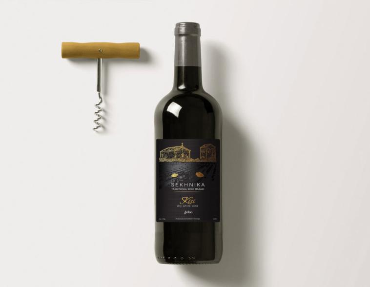создание дизайна этикетки для вина sekhnika