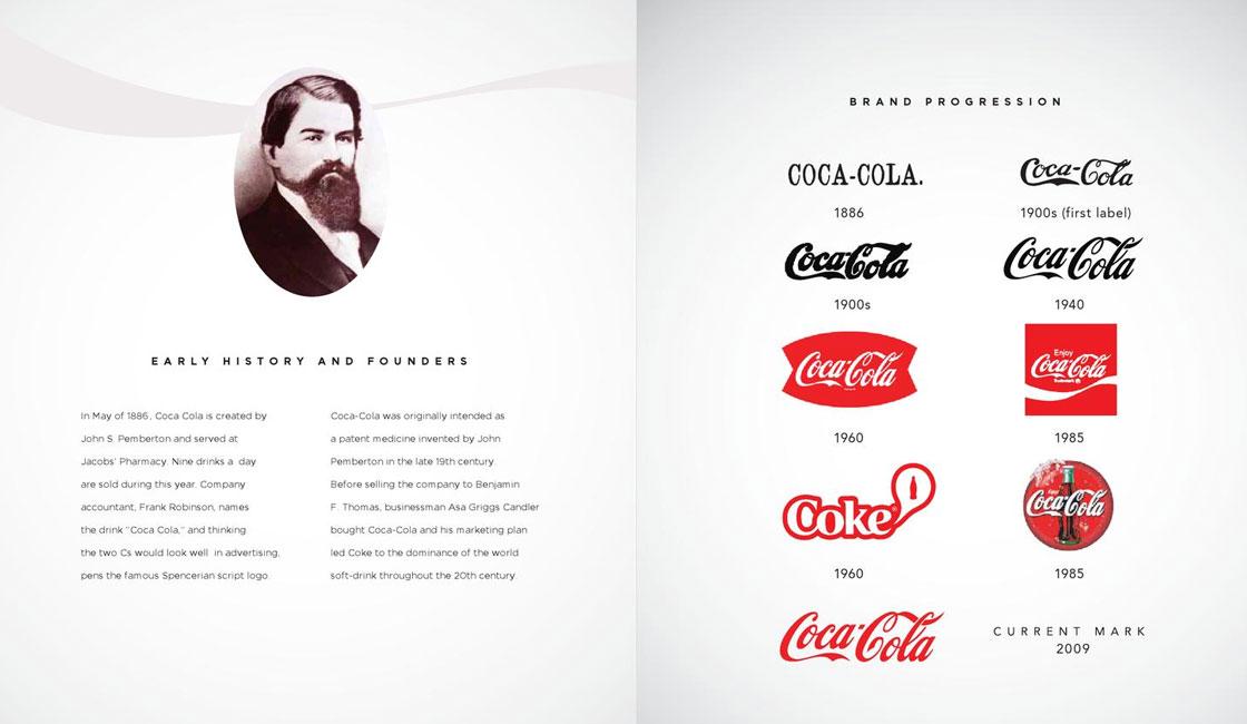 coca cola brand book