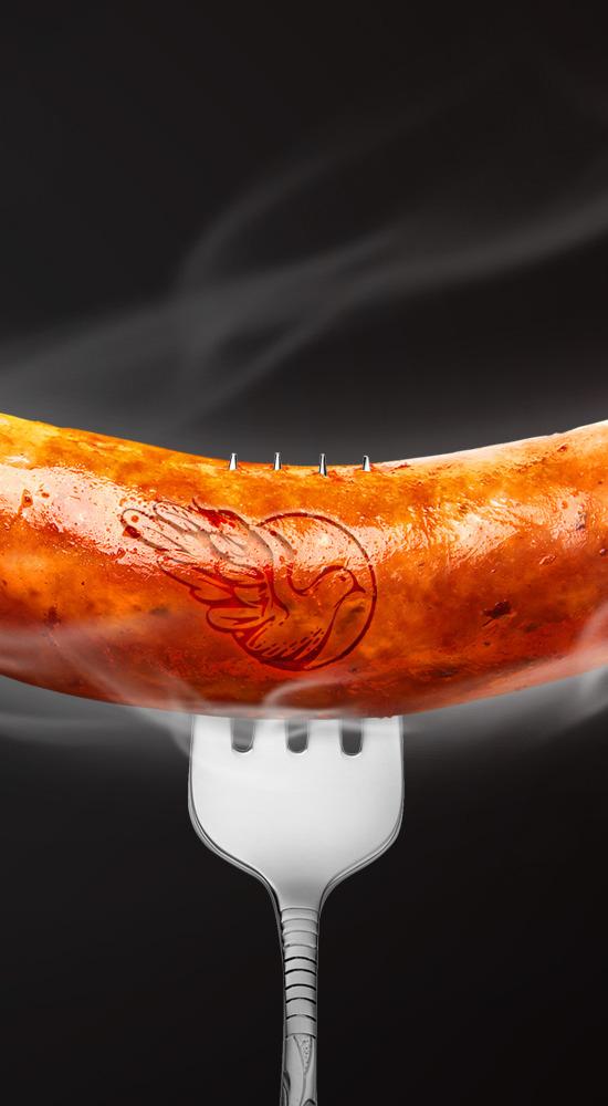 Дизайн этикеток для сосисок гриль