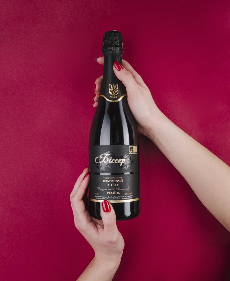Sparkling wine label design