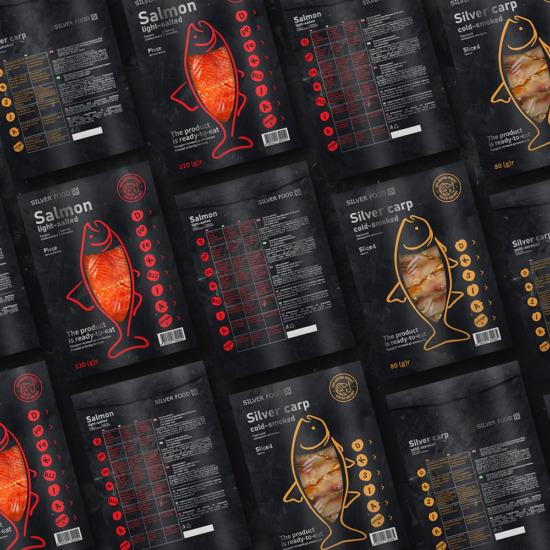 , Дизайн упаковки рыбной продукции ТМ «Silver Food»