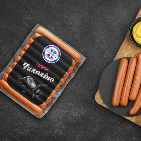 , Дизайн этикеток для сосисок и сарделек ТМ «Калина»